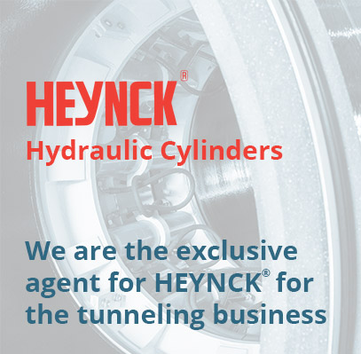 We are the exclusive agent for HEYNCK for the tunneling business