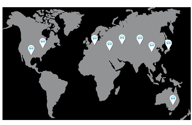 Worldwide used in Tunneling