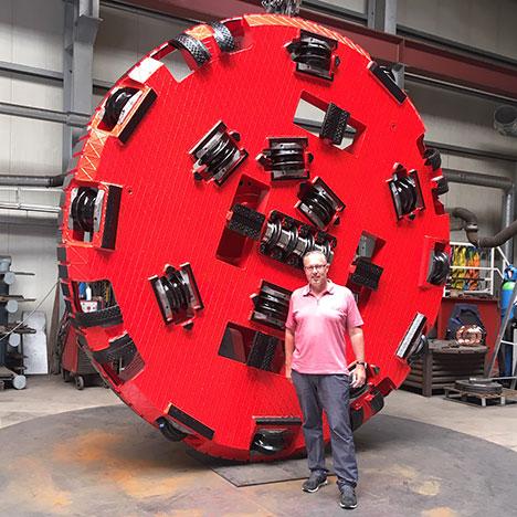 Felsbohrkopf DA3600 für einen weiteren Kunden fertiggestellt