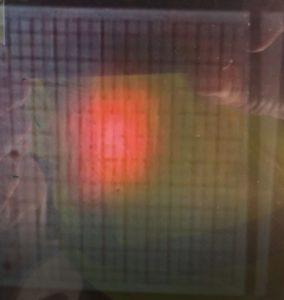 Laserpunkt nach ca. 400m