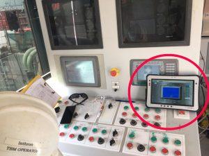 Toughbook des NAV24 – via Wireless mit dem Steuer PC verbunden