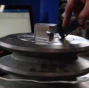 Perforator Schneidrollen RFID Chip auslesen